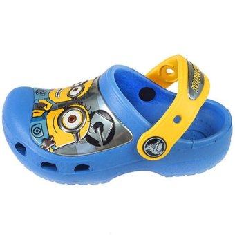 Giày lười bé trai Crocs Crocs Minions Clog Yellow Sea Blue (Xanh Dương)