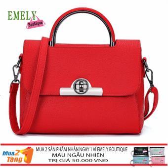 Túi Đeo Chéo Cao Cấp QS03 Màu Đỏ + Gift