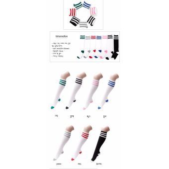 Vớ thời trang nhập khẩu Hàn Quốc hiệu Aglaia màu trắng/đỏ