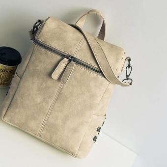 Women Solid Fashion Backpack Shoulder Bag Tote Ladies Purse BG - intl