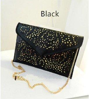 NEW Style Famous Brands Shoulder Designer Evening Day Clutch Women Messenger Bag (Black) - intl