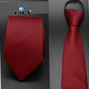 Cà vạt nam bản vừa kéo khóa HQ 2TI48 7(sọc đỏ)