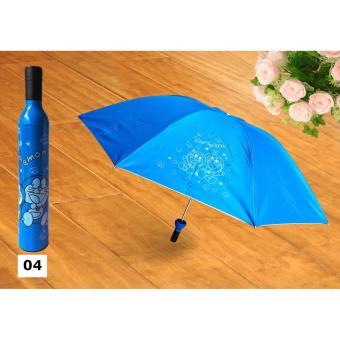 Ô đi mưa cá nhân chống tia UV cao cấp hình chai lọ sành điệu (màu xanh dương)