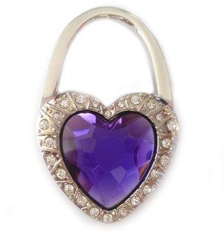 Móc treo túi xách hình trái tim đá (Tím)