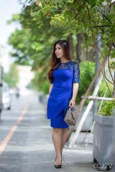 Đầm Body Phối Ren Tay Lỡ