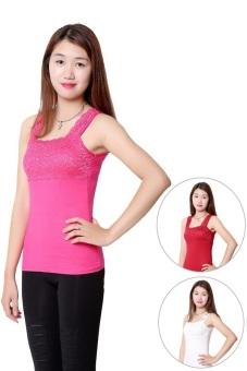 Bộ 3 áo 2 dây ren ngực nữ SoYoung 3WM TOP 016 HP R W