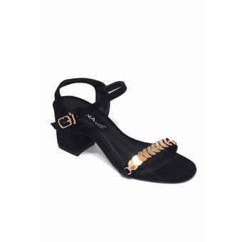 Sandal Cao Gót 7 Phân ANA Le (Đen)