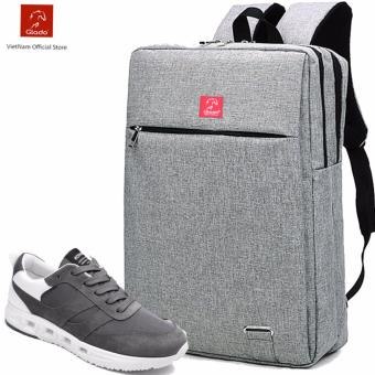 Combo Balo Cylinder BLC007GR + Giày Sneaker GS057GR (Xám) - CB013