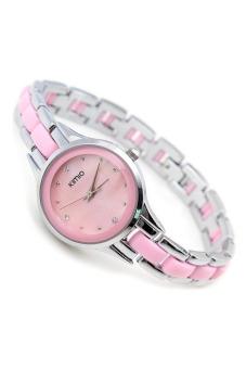 Đồng hồ nữ dây kim loại Kimio 450 (Trắng phối hồng)