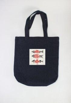 Túi tote nữ Blossom Fish Cung Cấp Bởi Suvi (Xanh Đen)