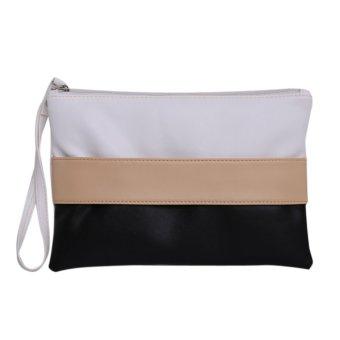 Women Fashion Tote Shoulder PU Leather Clutch(Black) - intl