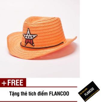 Nón trẻ em chất liệu cói Flancoo 8732 (Cam) + Tặng kèm thẻ tích điểm Flancoo