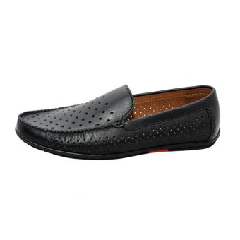 Giày nam da bò thật cao cấp màu đen ESM34