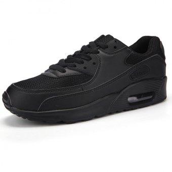 Men Women Air Cushion Shoes Breathable Walking Casual Shoes(Black) - intl