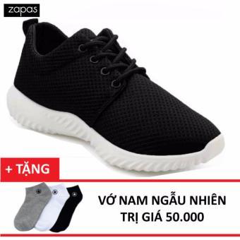 Giày Sneaker Thời Trang Nữ Zapas - GS062 (Đen) Tặng Vớ