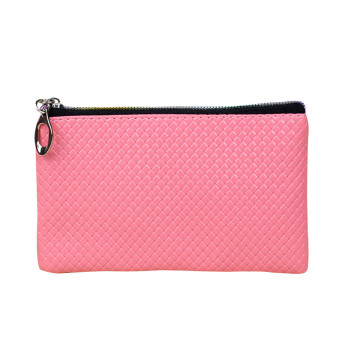 Women Fashion Leather Wallet Pink
