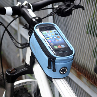 Roswheel Mountain Bike Bicycle Front Top Tube Bag for Mobile Phone (Blue) (Intl)