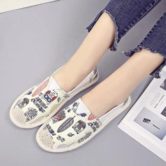 giày lười thời trang bomdo BGLV218 (kem)