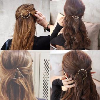 Combo 5 Kẹp tóc MK (Hàn Quốc) bằng hợp kim mạ vàng xinh xắn cho các bạn gái
