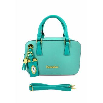 Túi hộp xanh pastel Carlo Rino 0303223-001-43 (xanh pastel)