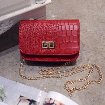 Túi xách da phối với dây đeo 200 (Đỏ)