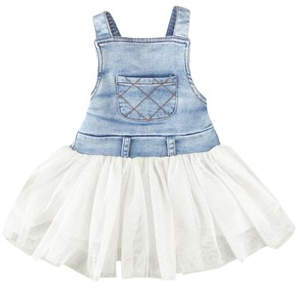 Cyber Party Jeans Dress White - intl