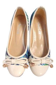 Giày búp bê nữ Hana Trade G0815003 (Xanh)