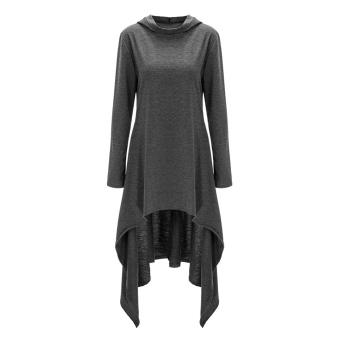 Fashion Women Pullover Hoodie Loose Sweater Jumper Dress - intl