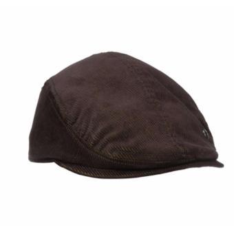 Mũ nam kiểu tài xế vải nhung nâu đậm Haggar Men's Corduroy Driver (Mỹ)