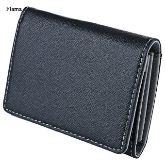 Flama Novelty Mini Card Wallet Solid Color Zigzag Folding Men(Gray) - intl