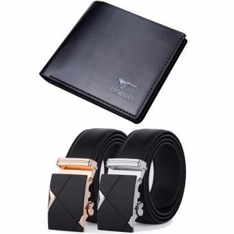 Bộ sản phẩm ví da và bộ đôi thắt lưng da nam TGVB-SEP