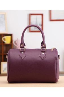 Leather Handbag (Purple)