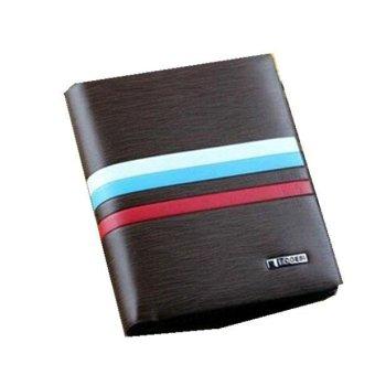 Leather Bifold Credit Card Money Holder Clutch Wallet Slim Purse Handbag Brownstyle2 - Intl