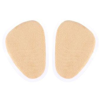 Foot Half PU & Lint Shoe Insoles Feet Leather Unisex Forefoot Insole 1 Pair Oval Cushion Pad Foot Care Tool - intl
