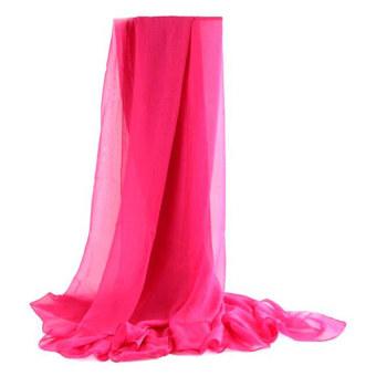 Moonar Women Chiffon Soft Ccarves Long Wraps Shawl Beach Silk Scarf (Rose)