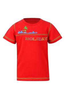 Áo thun Holidays bé trai V.T.A.Kids BT405301D (Đỏ)
