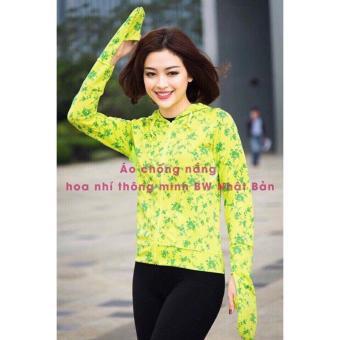 Áo chống nắng hoa nhí thông hơi BW Nhật Bản (Vàng)