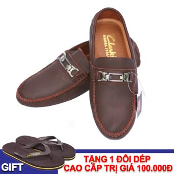 Giày Lười Da Giày Việt Nam VNLCZ0AZ01-1 + Tặng 1 đôi dép cao cấp