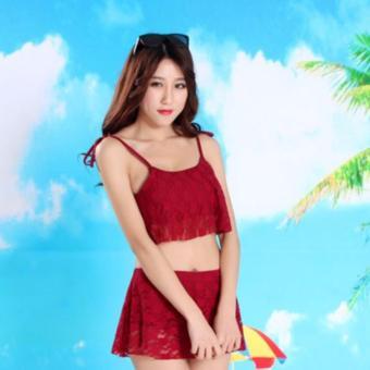 Đầm Bơi Monokini Ren Đỏ Xinh Store