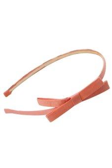 Bluelans Fashion Korea Style Bowknot Hair Band Bow Tie Headband Accessory Pink (Intl)