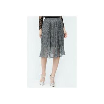 Chân váy midi Amun màu xám kim tuyến VX13