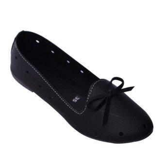 Giày búp bê nơ MeGirl 92180 (Đen)