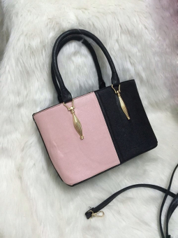 Túi xách màu sang trọng kiểu Hàn Quốc (Đen, hồng)