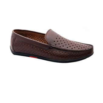 Giày nam da bò thật cao cấp màu nâu ESM33