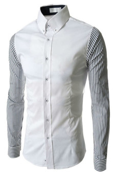Reverieuomo CS37 Single-Breasted Shirt White - Intl