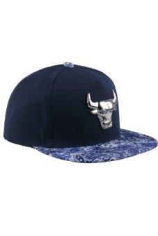 HKS Fashion trend Mens Snapback adjustable Multi Color Baseball Cap Hip Hop hat Dark Blue - intl