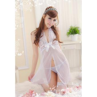 Đầm Ngủ Gợi Cảm Dây Hoa Dễ Thương - MS34 trắng