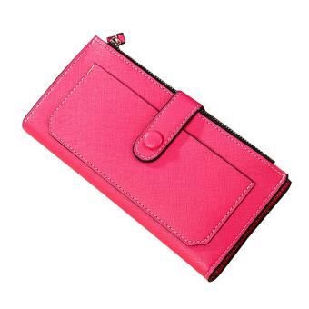 Lady Women Leather Clutch Wallet Long Card Holder Case Purse Handbag - intl