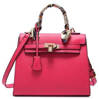 Túi xách tay kl.Kiểu khóa túi lạ.đẹp mắt.màu hồng phong cách-197_màu hồng