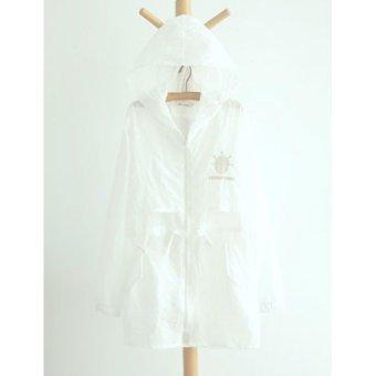 Áo khoác nữ mỏng trắng tay dài LTTA129